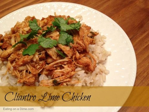 Slow Cooker: Cilantro Lime Chicken Recipe - Eating on a Dime