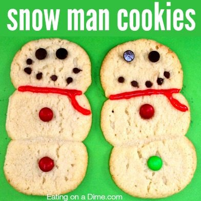 Looking for a fun cookie recipe? Make these snowman cookies with your kids. They are quick and the kids love making them in the kitchen.