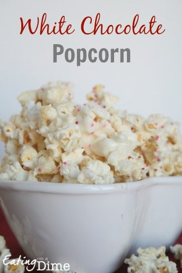 Popcorn With White Chocolate And Cake Mix