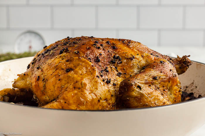 Learn how to roast a chicken and save money while making a delicious roasted whole chicken. This is super easy and much cheaper than store bought.