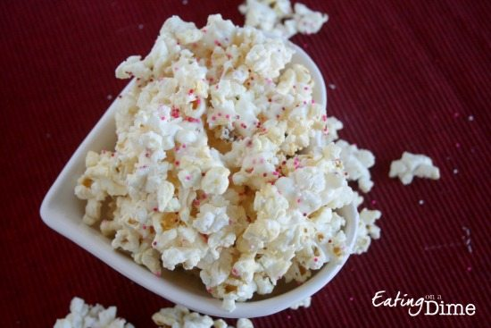 White Chocolate Popcorn Easy And Frugal To Make As A