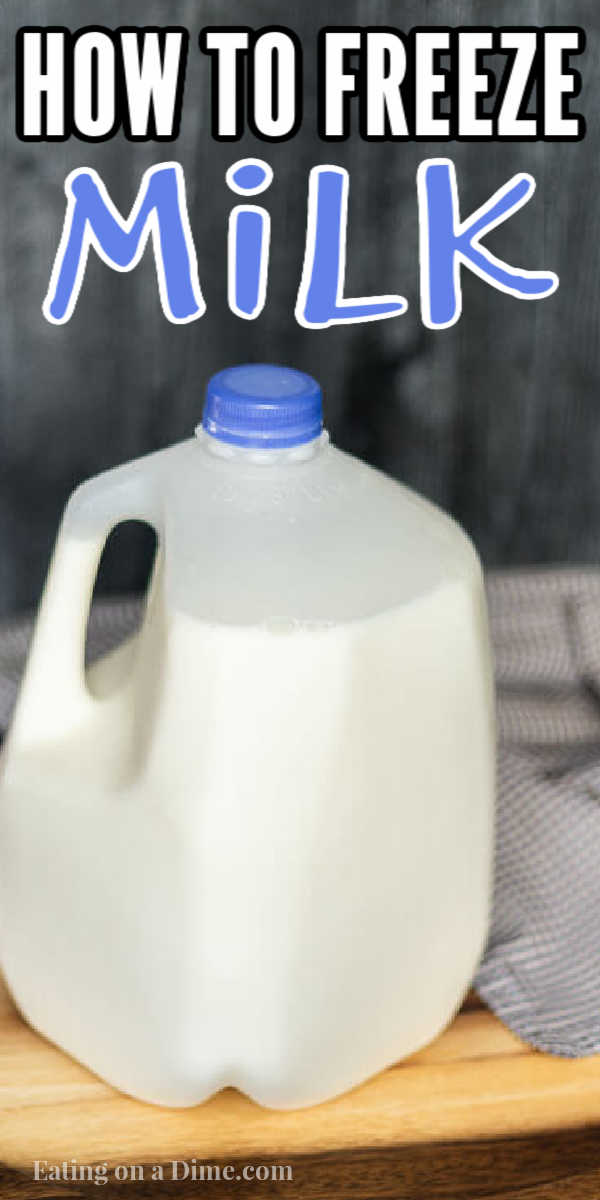 Learn how to freeze milk to save money. We have easy tips and tricks. We are going to show youhow to freeze a gallon of milk!