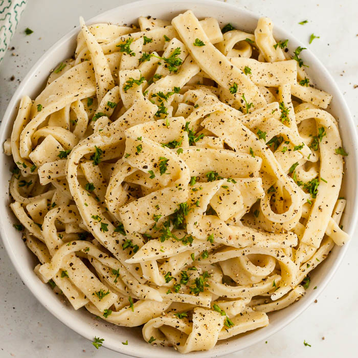 homemade egg noodles - perfect for chicken soup