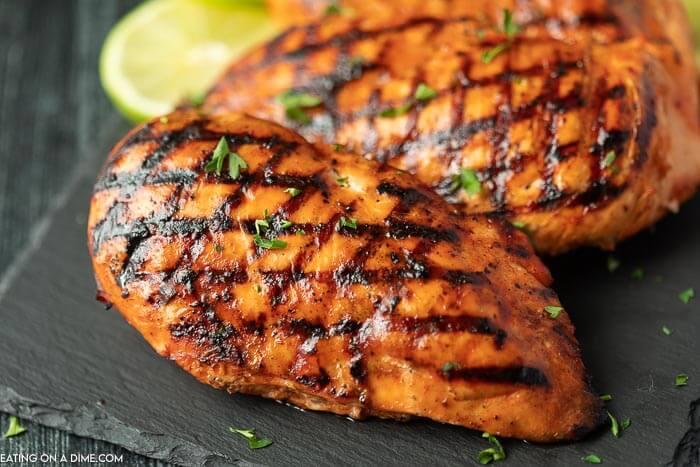 closeup photo of catalina glazed chicken