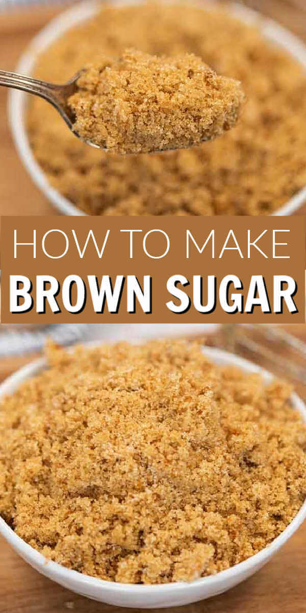 Learn how to make brown sugar from scratch with only 2 ingredients. Never run out of brown sugar with this easy recipe to make it at home!