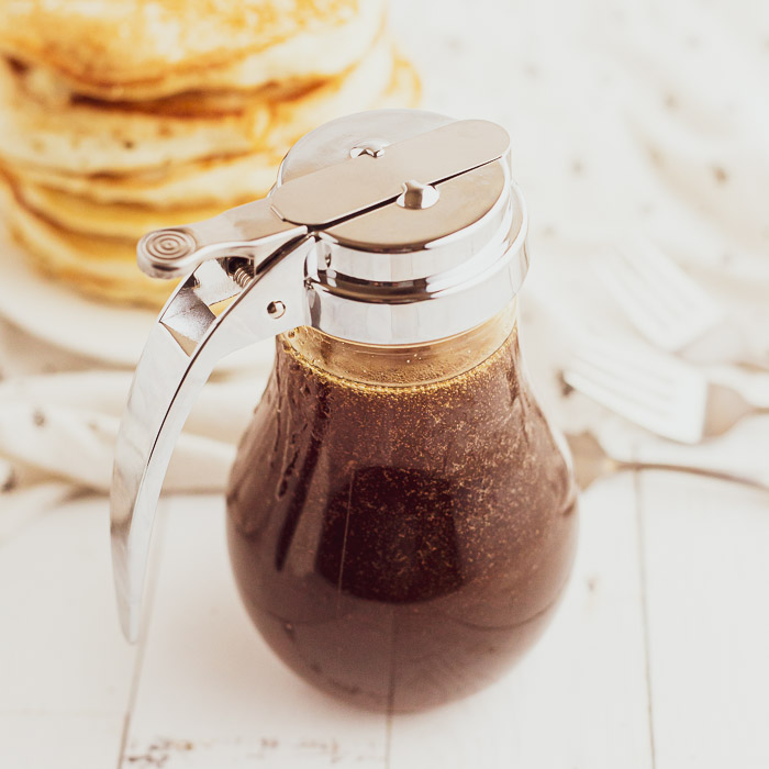 This is our favorite Homemade pancake syrup recipe and takes just minute to make. This is the best pancake syrup recipe and so delicious.