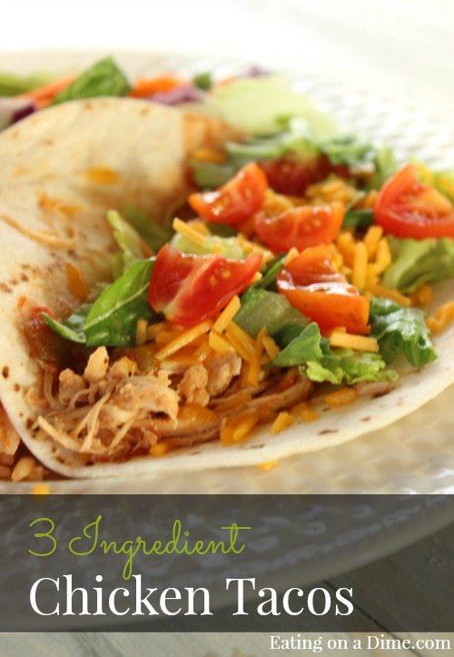 Crock pot Chicken Tacos recipe is so good! Make slow cooker Shredded chicken tacos! Chicken tacos crock pot recipe is quick.Crock pot shredded chicken tacos