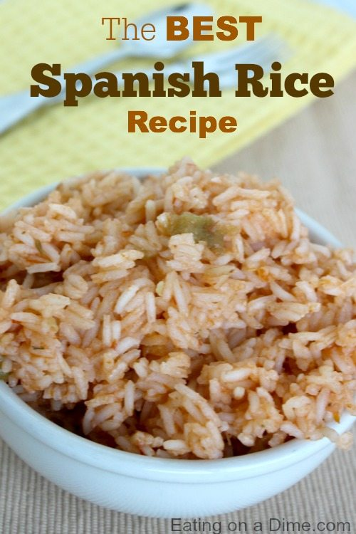 This recipe for Spanish rice tastes just like the restaurants.Try this easy Spanish rice recipe. Homemade Spanish rice is so good.Best Spanish rice recipes.