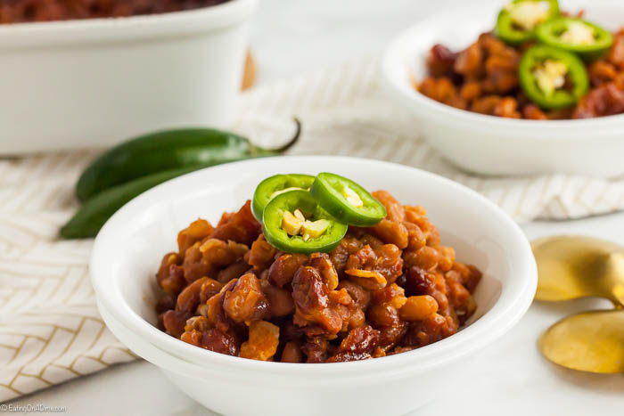 Once you try this easy baked beans recipe, you will never buy store bought again. It is so delicious and super easy to make for the perfect side dish.
