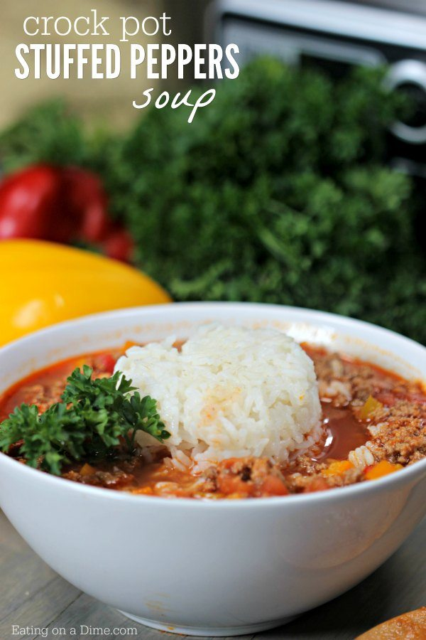 Crockpot Stuffed Peppers Soup Stuffed Pepper Soup Crock Pot Recipe