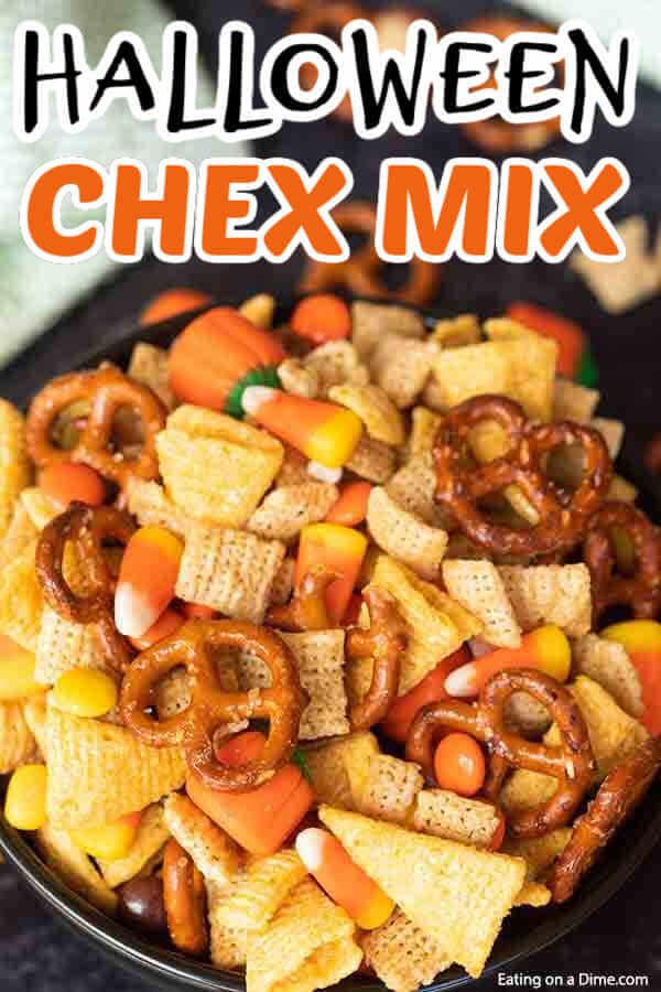 Halloween Chex Mix Easy Halloween Snack Mix Recipe