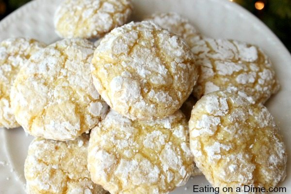 Easy lemon cookies using cake mix and cool whip