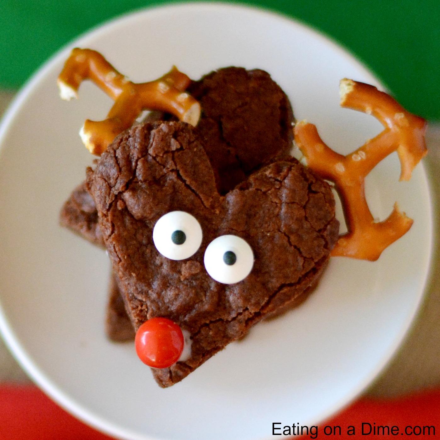 Easy To Make Reindeer Brownies Eating On A Dime