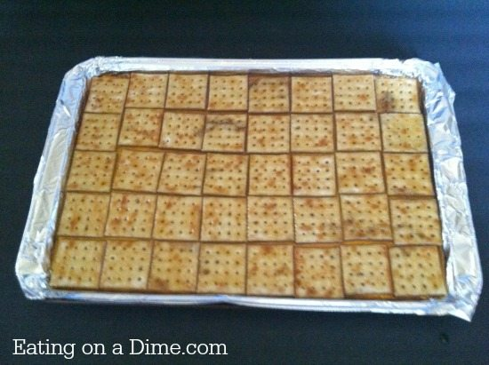 Easy Cracker Toffee With Saltines