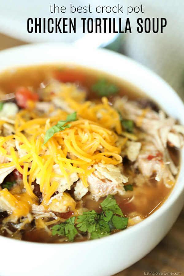 Crockpot Chicken Tortilla Soup Recipe - Easy and Budget