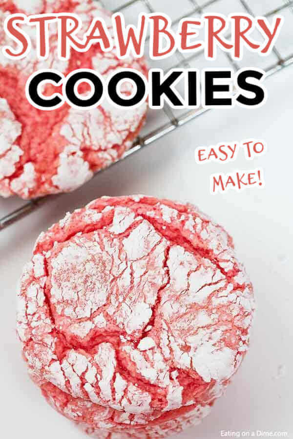 If you are looking for a delicious yet easy cookie recipe, try Strawberry Cookies! You only need 4 ingredients for these fluffy cookies.