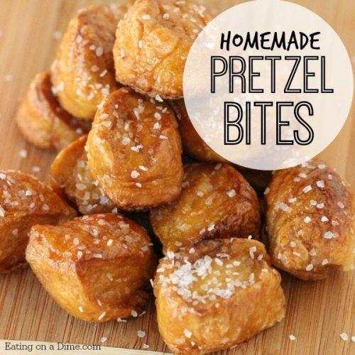 Homemade Pretzel Bites - Perfect for