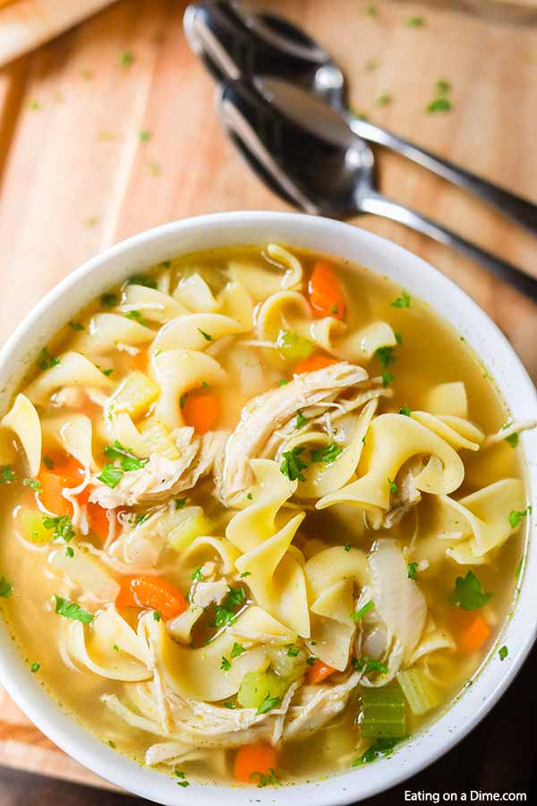 You can enjoy Homemade Chicken Noodle Soup Recipe in just 20 minutes. If you are craving soup, this is the best homemade chicken noodle soup!