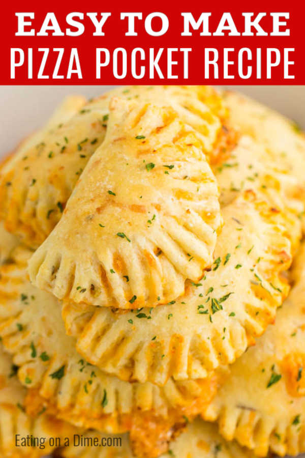 Pizza Pocket Recipe is so delicious and better than any of those store bought pizza snacks. Enjoy these anytime you want and make a batch for the freezer.