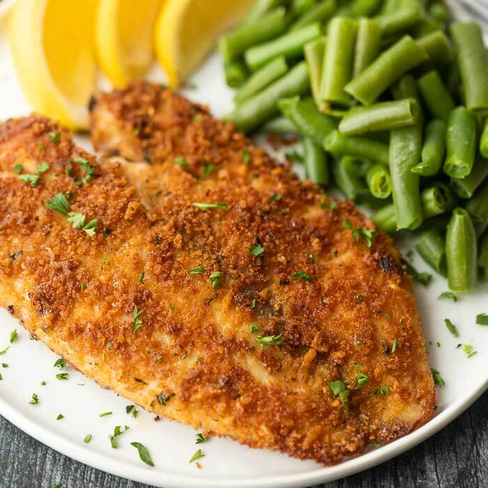 Enjoy crispy and delicious fish without frying or extra oil when you make this easy baked parmesan crusted tilapia. It is a family favorite.
