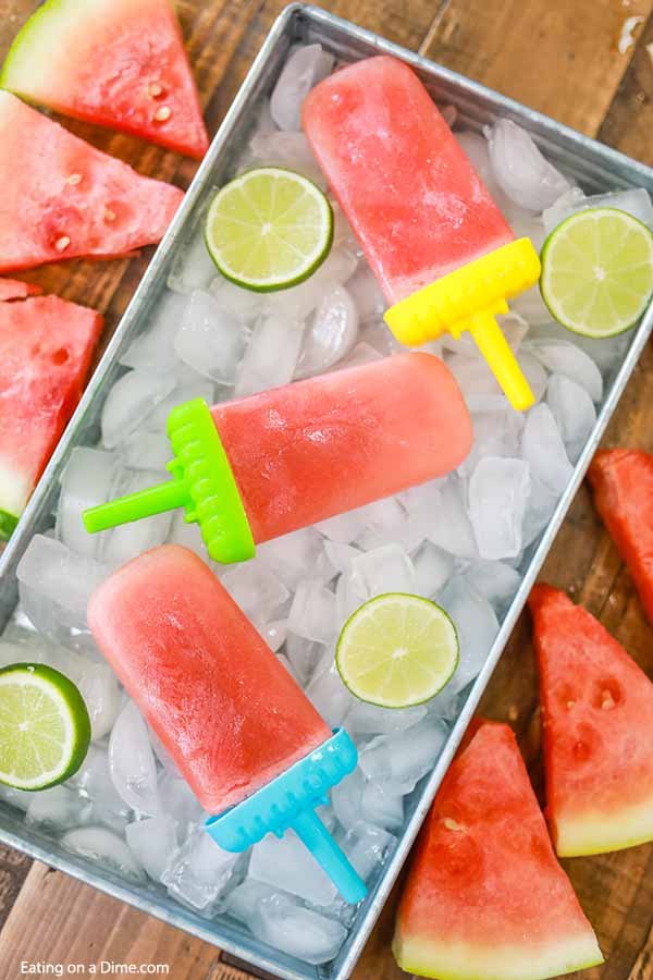 Homemade Watermelon Popsicles are so easy to make and you only need 3 ingredients! This is such an easy treat to make this Summer and so refreshing.