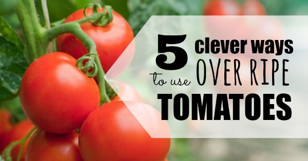 ways to use overripe tomatoes
