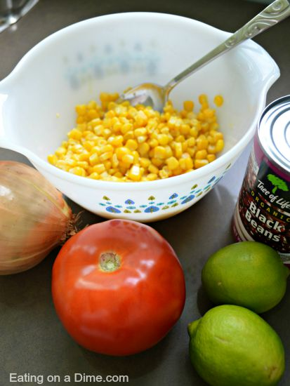 Try this easy Black bean salsa for a delicious dip or topping idea sure to be a hit. With just a few ingredients, black bean corn salsa recipe is easy.