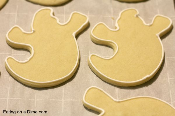 ghost sugar cookies step one