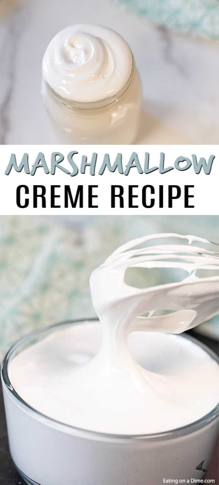 This Marshmallow Creme Recipe is easier to make than you think. Why buy your own marshmallow cream when you create it at home for less!