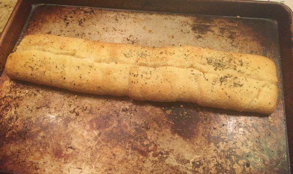 bread ready to cut