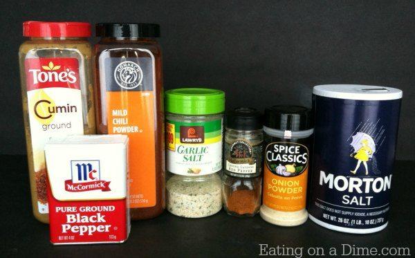 homemade chili seasoning ingredients