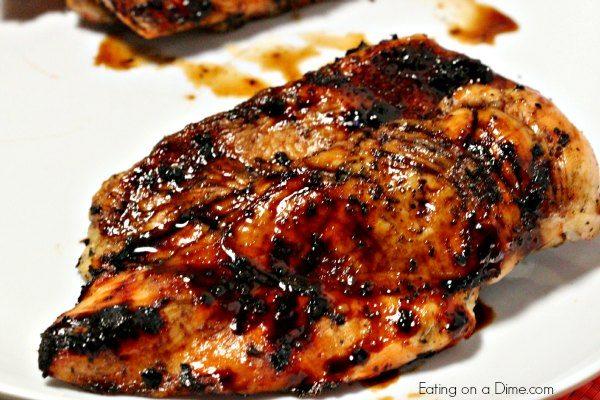 balsamic glazed chicken close up