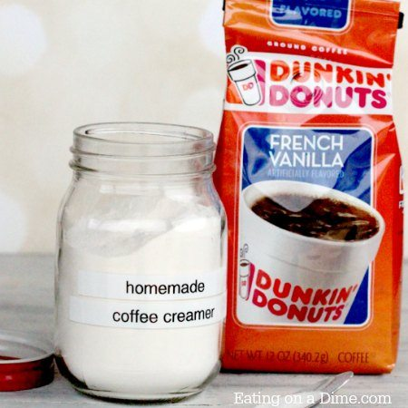 homemade powdered coffee creamer square