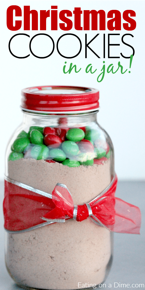 Christmas cookies in a jar simple cookie recipe in mason jar for Christmas cookies to make for gifts