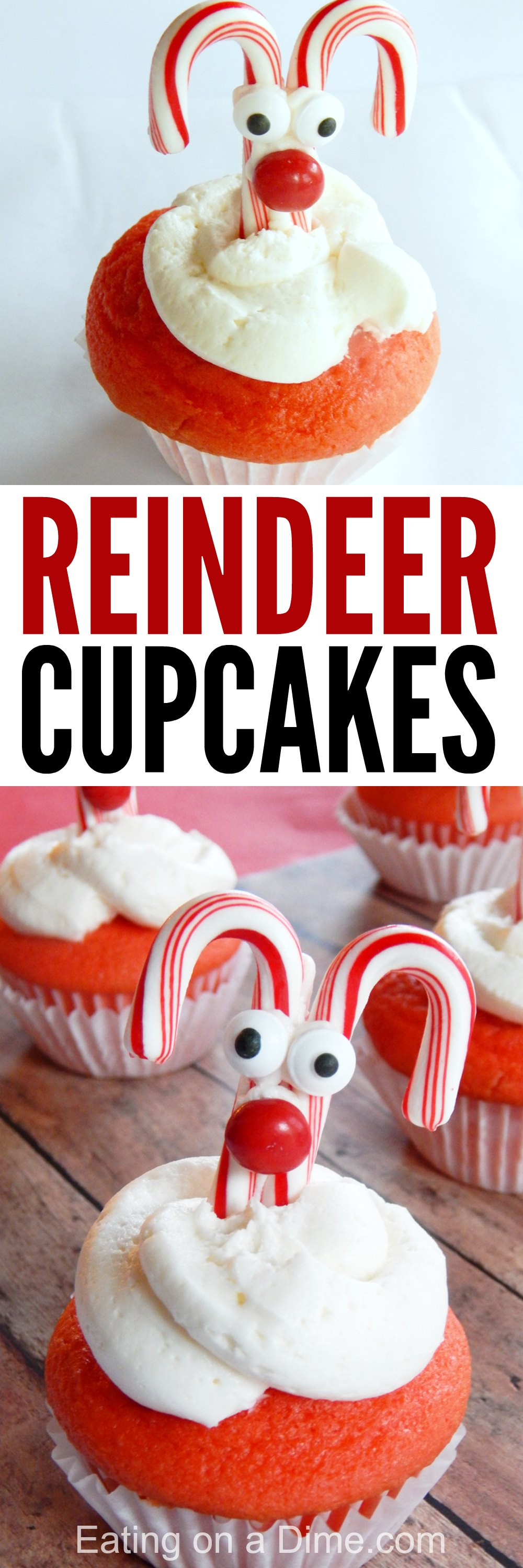 Make these easy reindeer cupcakesfor your next holiday party.These adorable Christmas cupcakesare so cute!We love Christmas cupcake recipes!