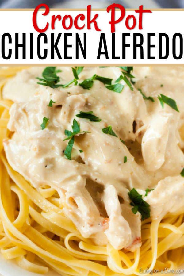 Easy Crock Pot Chicken Alfredo - Slow Cooker Chicken Alfredo Recipe-5994