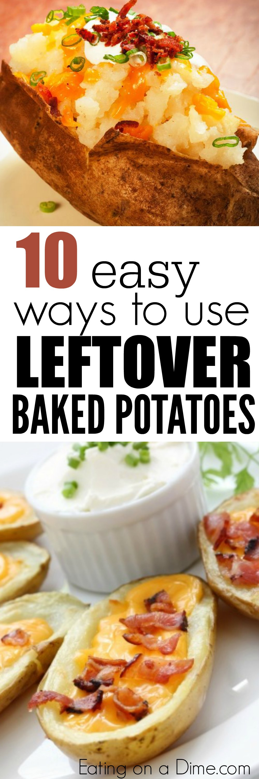 easy ways to use leftover baked potatoes