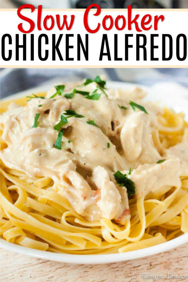 Crock Pot Chicken Alfredo is easy to make and delicious. You can enjoy Crock Pot Chicken Fettuccine Alfredo any day of the week thanks to the slow cooker!