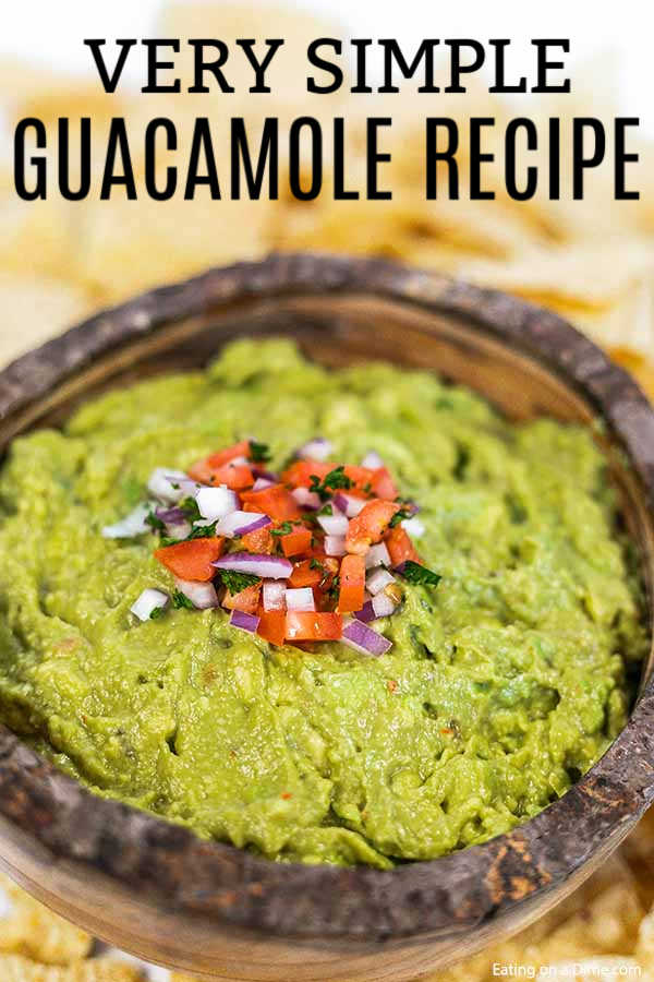 If you love fresh guacamole then you need to try this delicious simple guacamole recipe. This is the easiest homemade guacamole recipe, ever!