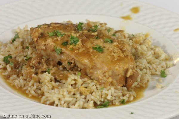 crock pot smothered pork chops for a weeknight meal