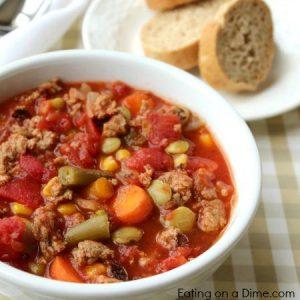 Print The Vegetable Soup Crock Pot Recipe Below