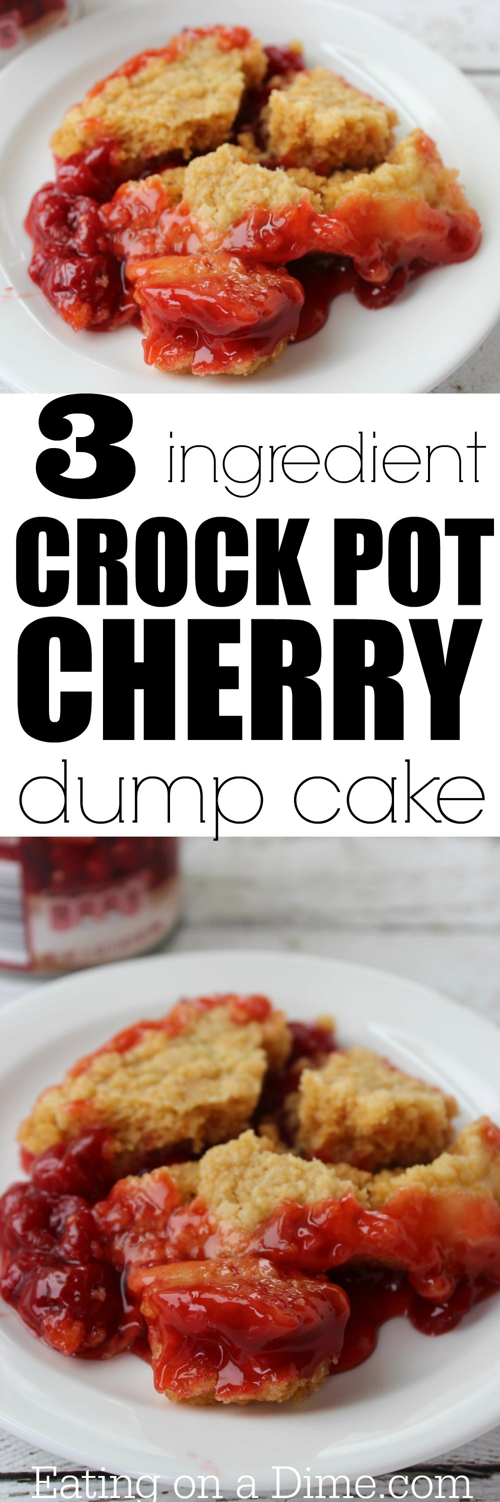 Easy Cherry Crumble With Cake Mix