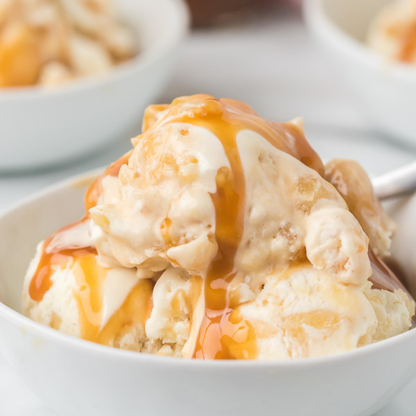 double scoop caramel apple ice cream