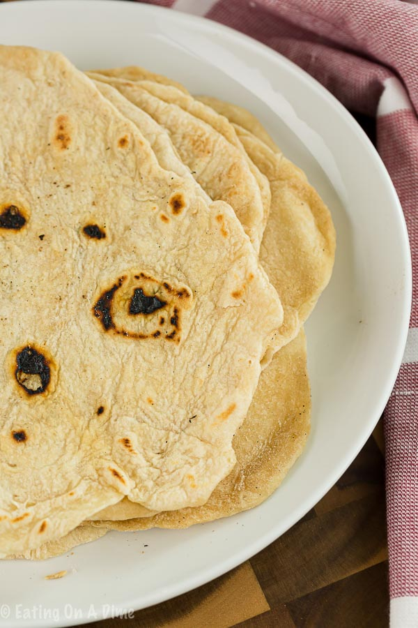 We have the best flour tortilla recipe that is super easy. You probably already have all of the ingredients on hand to make these. Give it a try today!
