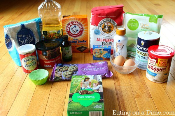 girl scout cookie thin mint cupcakes ingredients