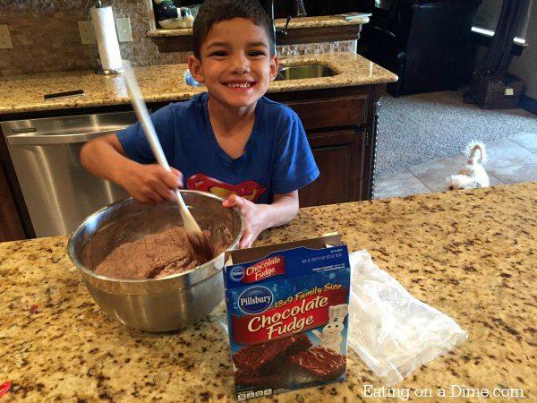 fun to make double chocolate brownies