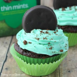 Girl Scout Cookie Thin Mint Cupcakes Recipe Eating On A Dime