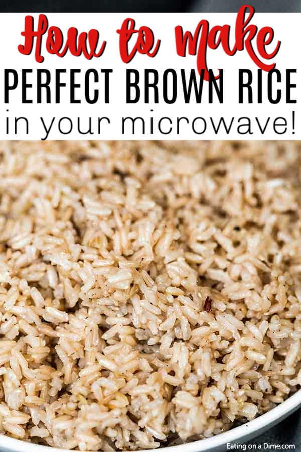 Microwave Brown Rice How To Make