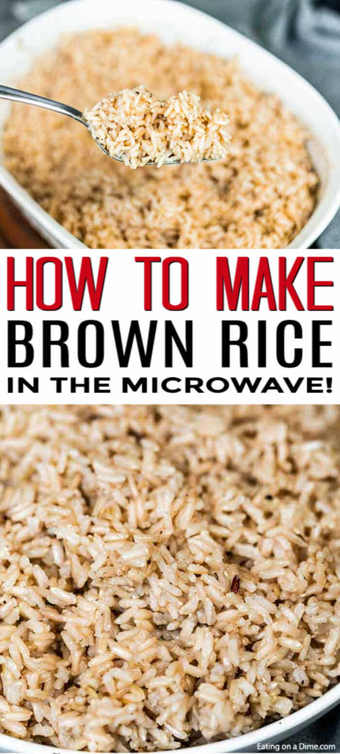 Learn how to microwave brown rice in just a few simple steps! Cooking brown rice is much easier than you think! Your family will love it!