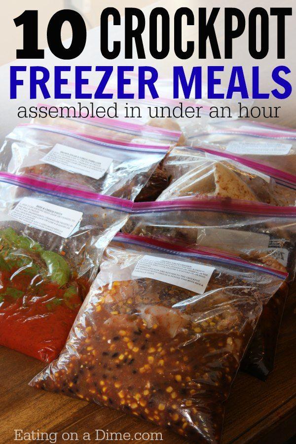10 crockpot freezer meals ready in an hour frozen crock pot meal